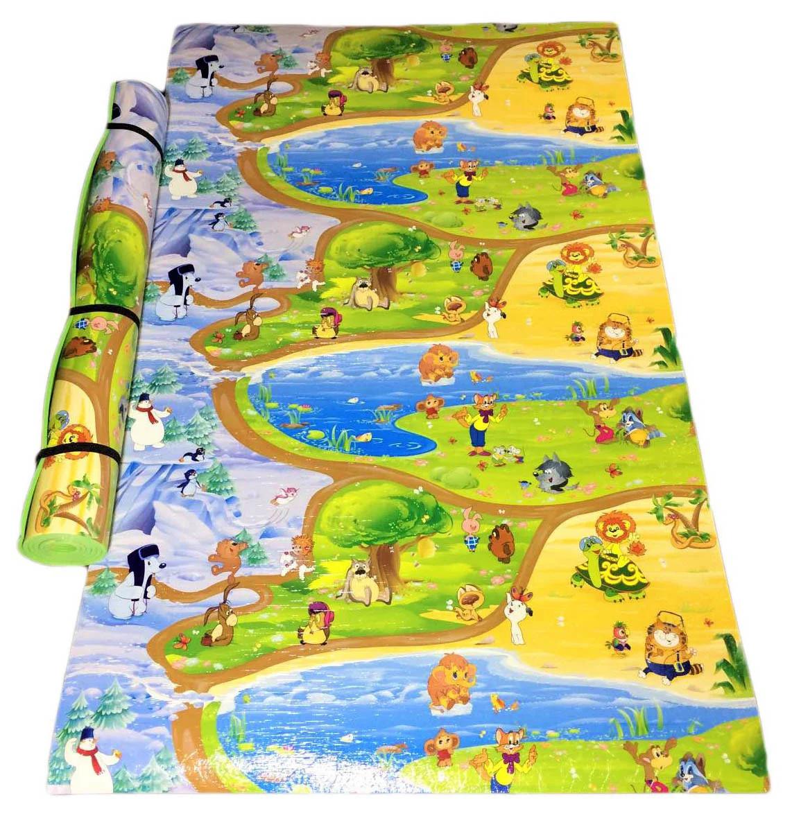 Детский коврик 2000х1200х11мм теплоизоляционный, развивающий, игровой коврик