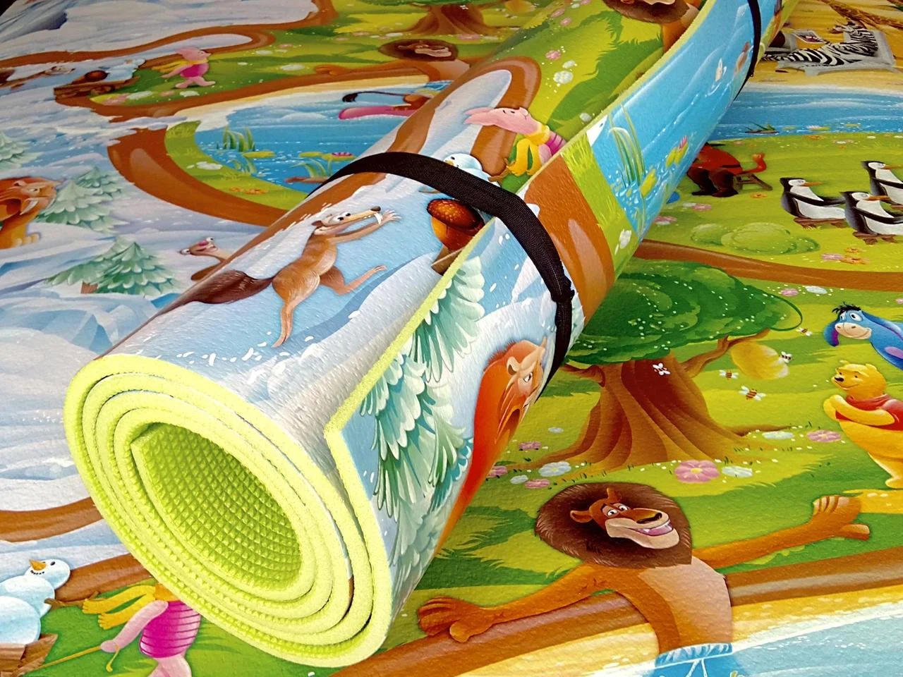 Детский коврик 2500х1200х8мм  теплоизоляционный, развивающий, игровой коврик
