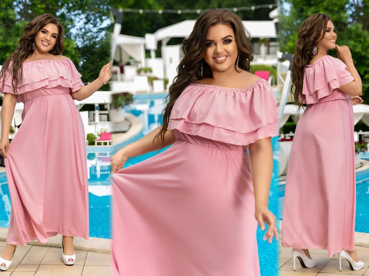 Очень модное женское длинное платье с накидкой больших размеров