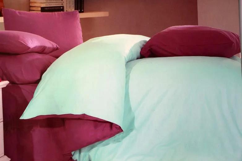 постельное белье сатин, однотонное постельное белье