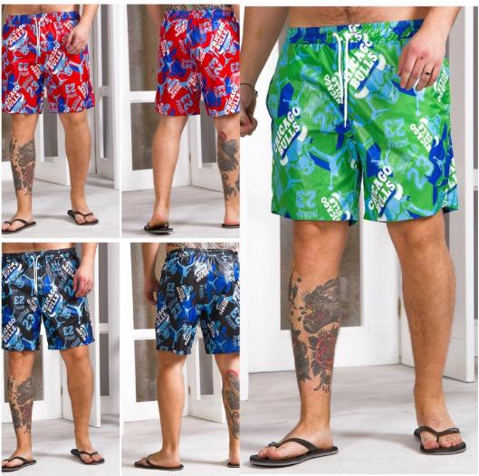 Яркие крутые мужские пляжные шорты