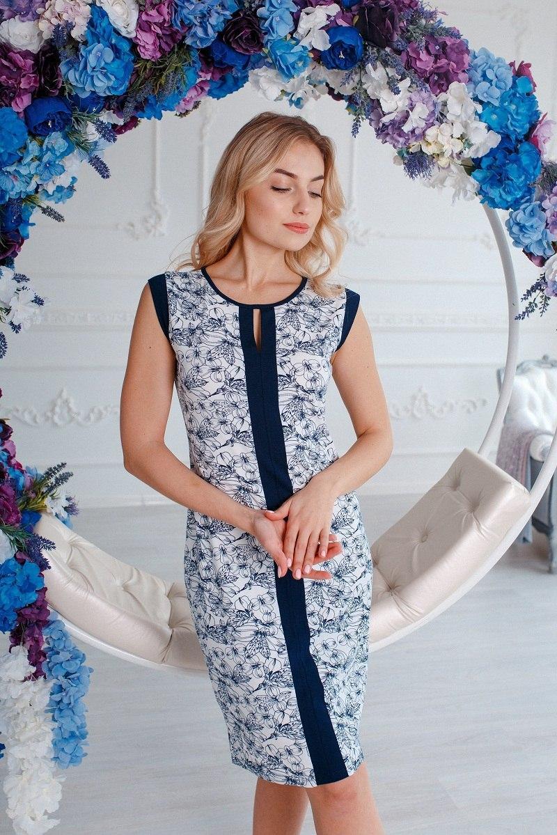 Прекрасная нежная женская ночная рубашка больших размеров