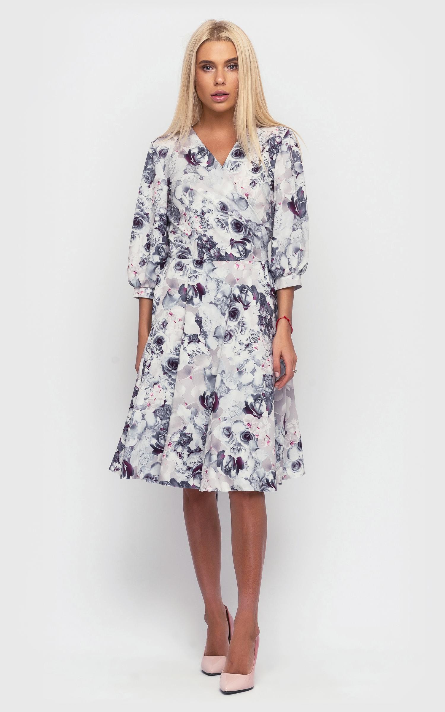 романтическое платье, платье с цветочным принтом, повседневное платье