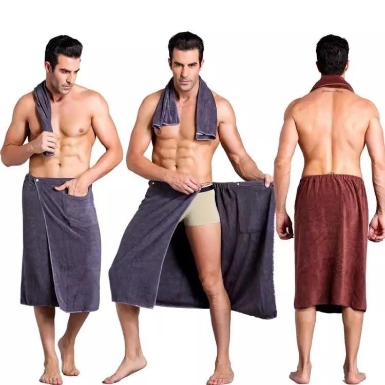 Мужское полотенце для бани и сауны из микрофибры п ...