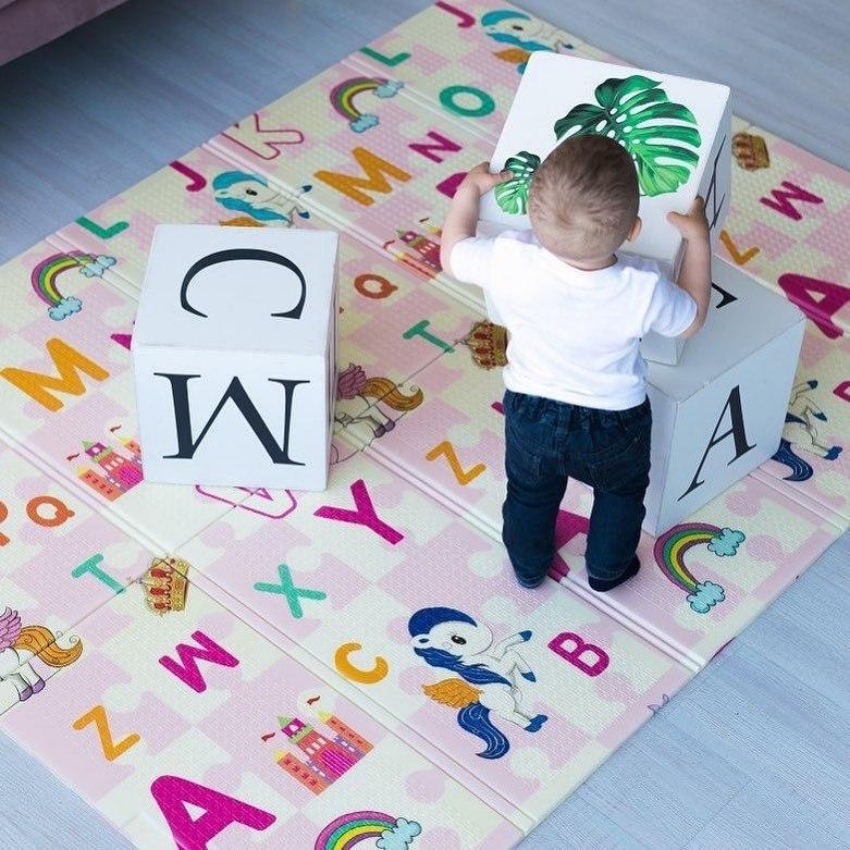 детские коврики игровые двухсторонние складные