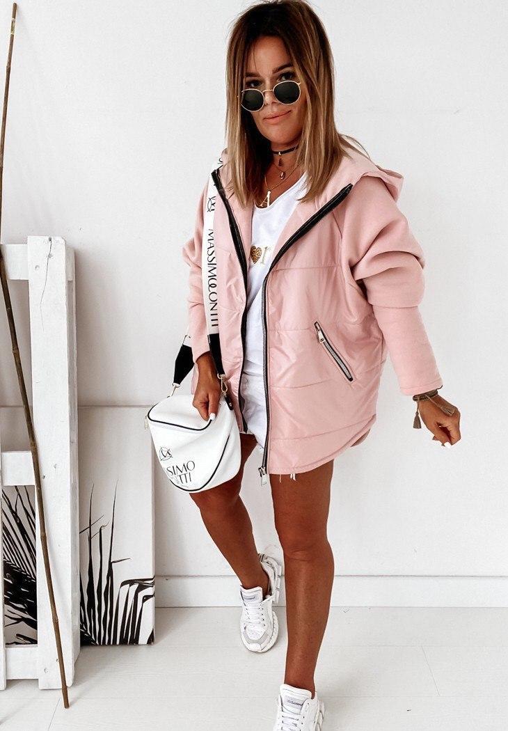 Женская стильная модная куртка демисезонная удлине ...