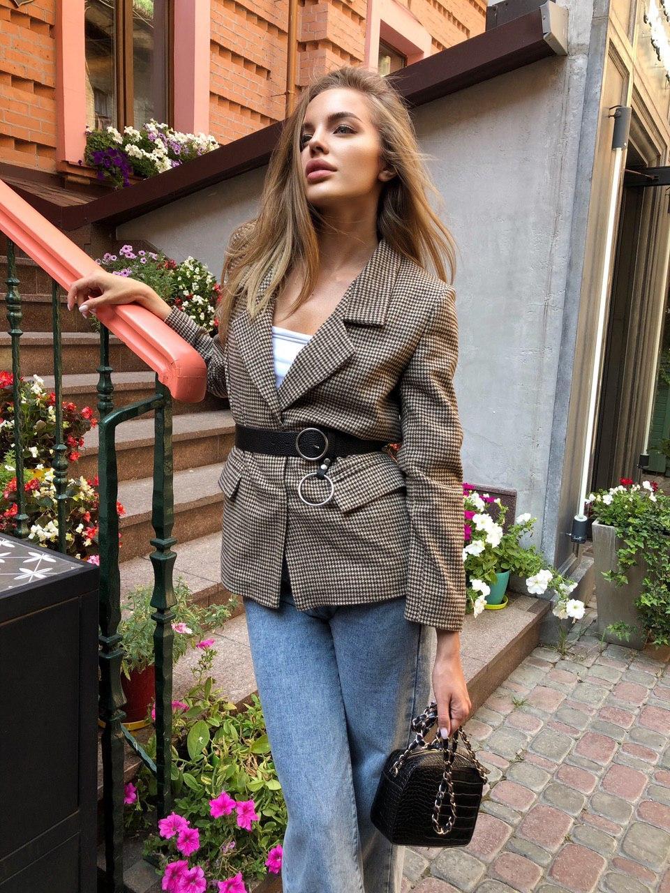 Шикарный трендовый женский пиджак с подкладкой