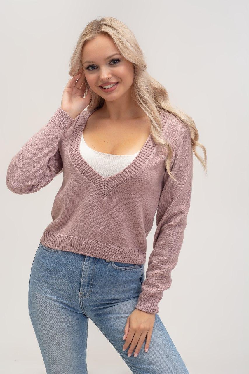 свитер двойка, вязаный свитер