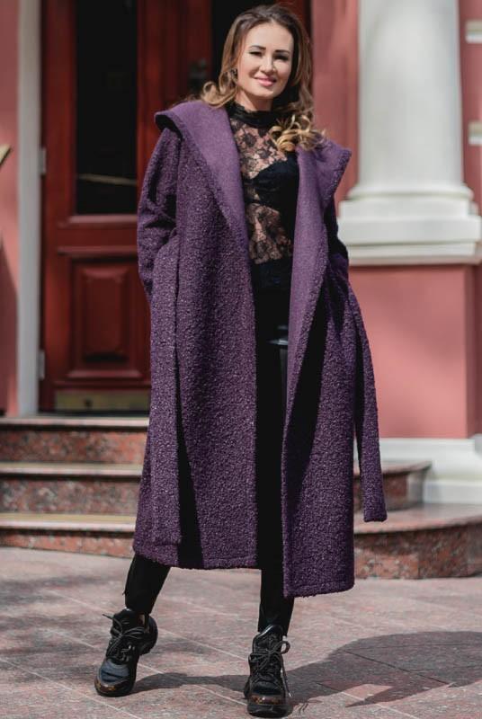 пальто с капюшоном, пальто букле