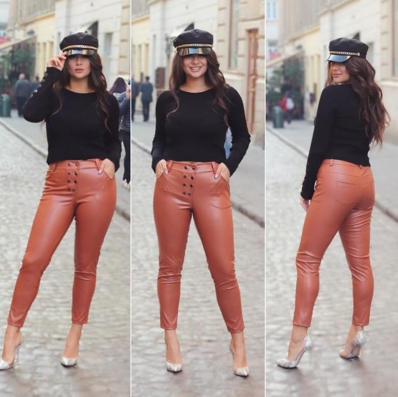 Непревзойденные модные кожаные брюки