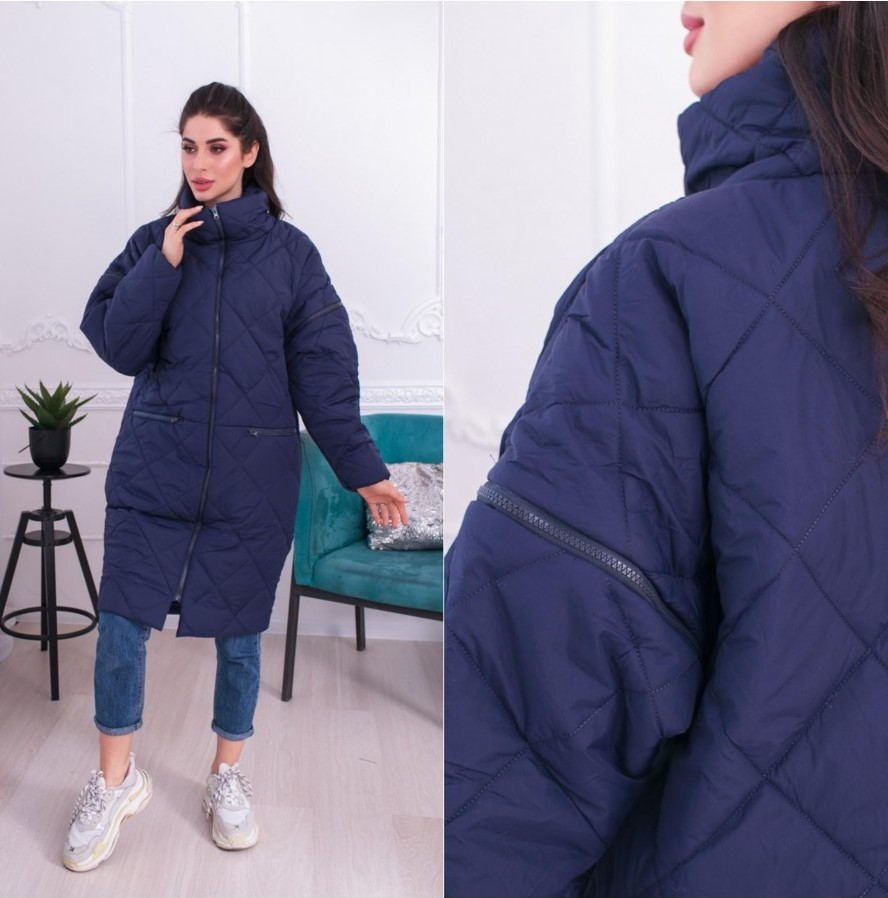 """Женское демисезонное пальто-трансформер с отстегивающимиcя рукавами """"Transformer"""""""