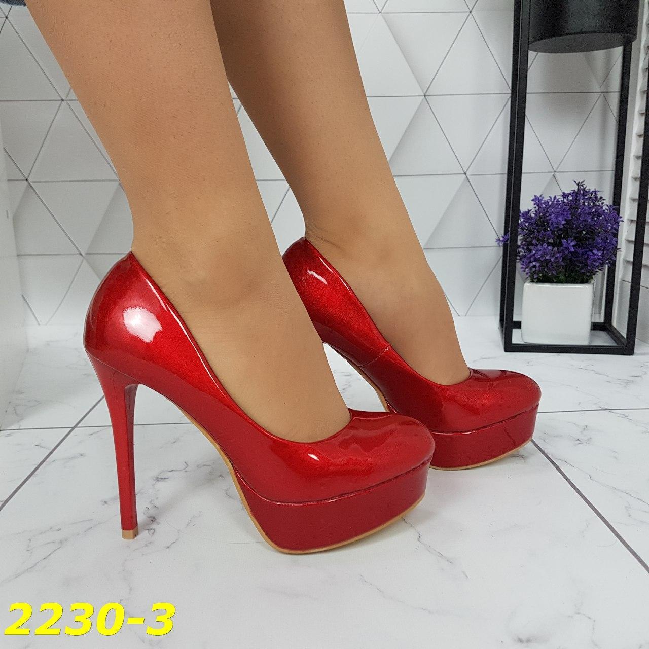 туфли на шпильке, красные туфли
