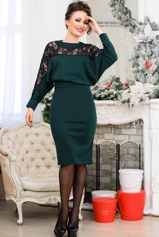 платье с кружевом, однотонное платье