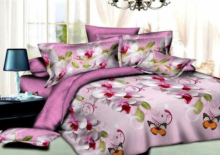 красивая яркая розовая простынь