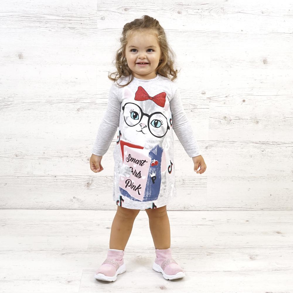 платье для девочек, платье с принтом