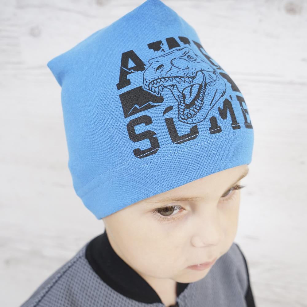 Модная теплая шапка для мальчика