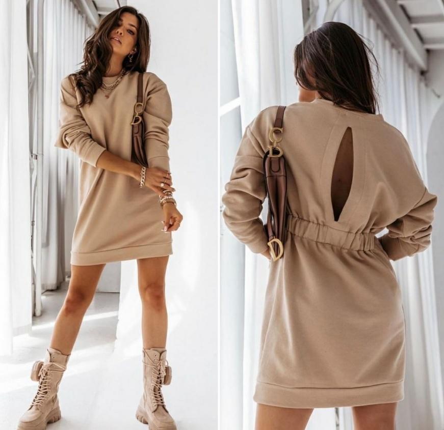 платье с разрезом, короткое платье