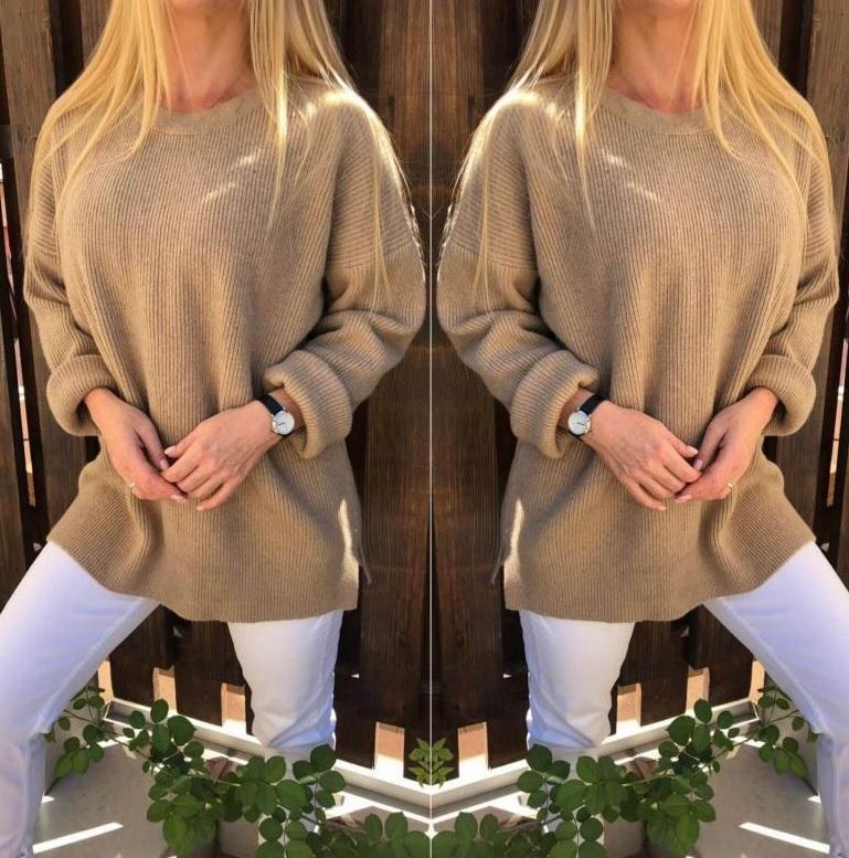 ангоровый свитер, удлиненный свитер