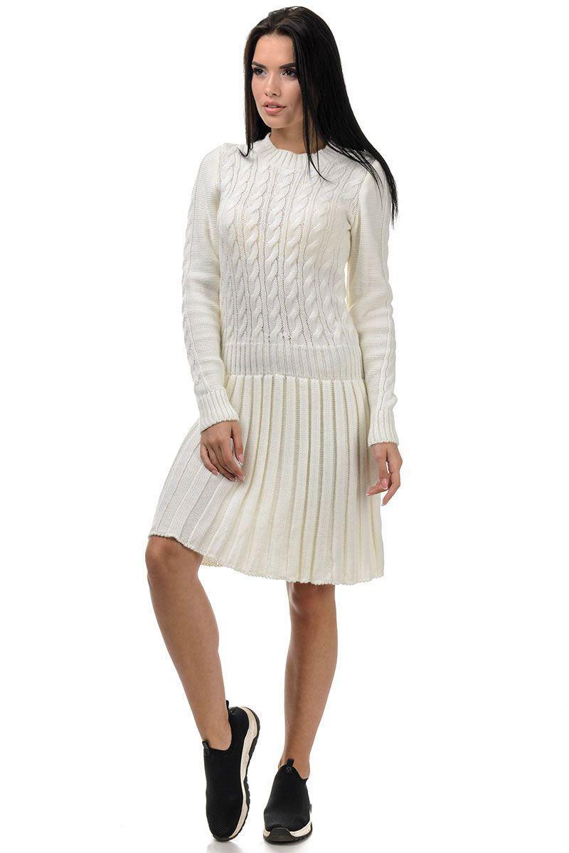 теплое платье, вязаное платье