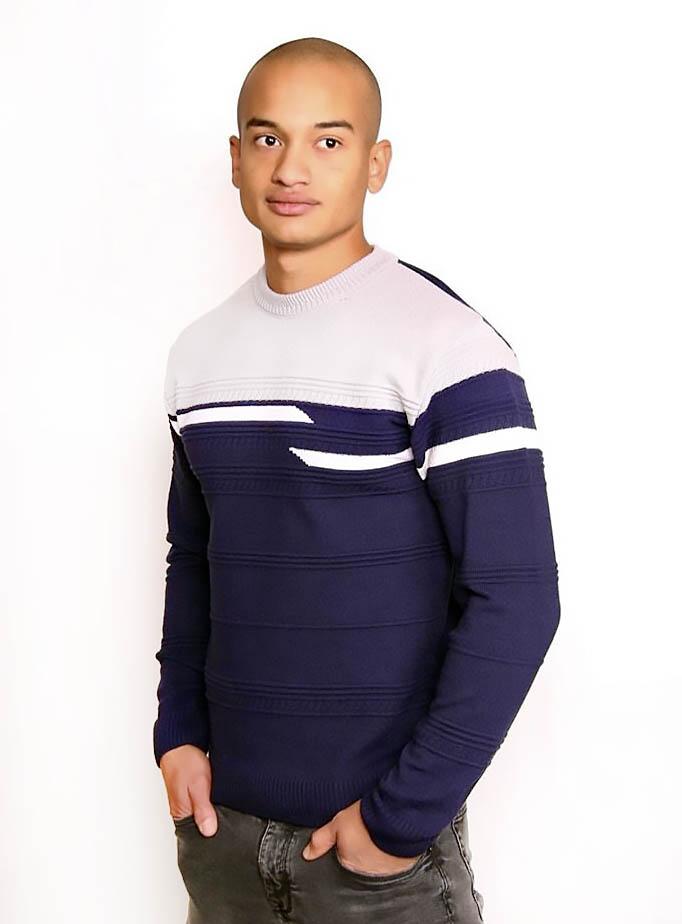 мужской свитер, зимний свитер