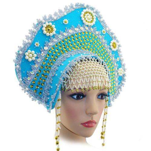 карнавальный костюм, кокошник снегурочки