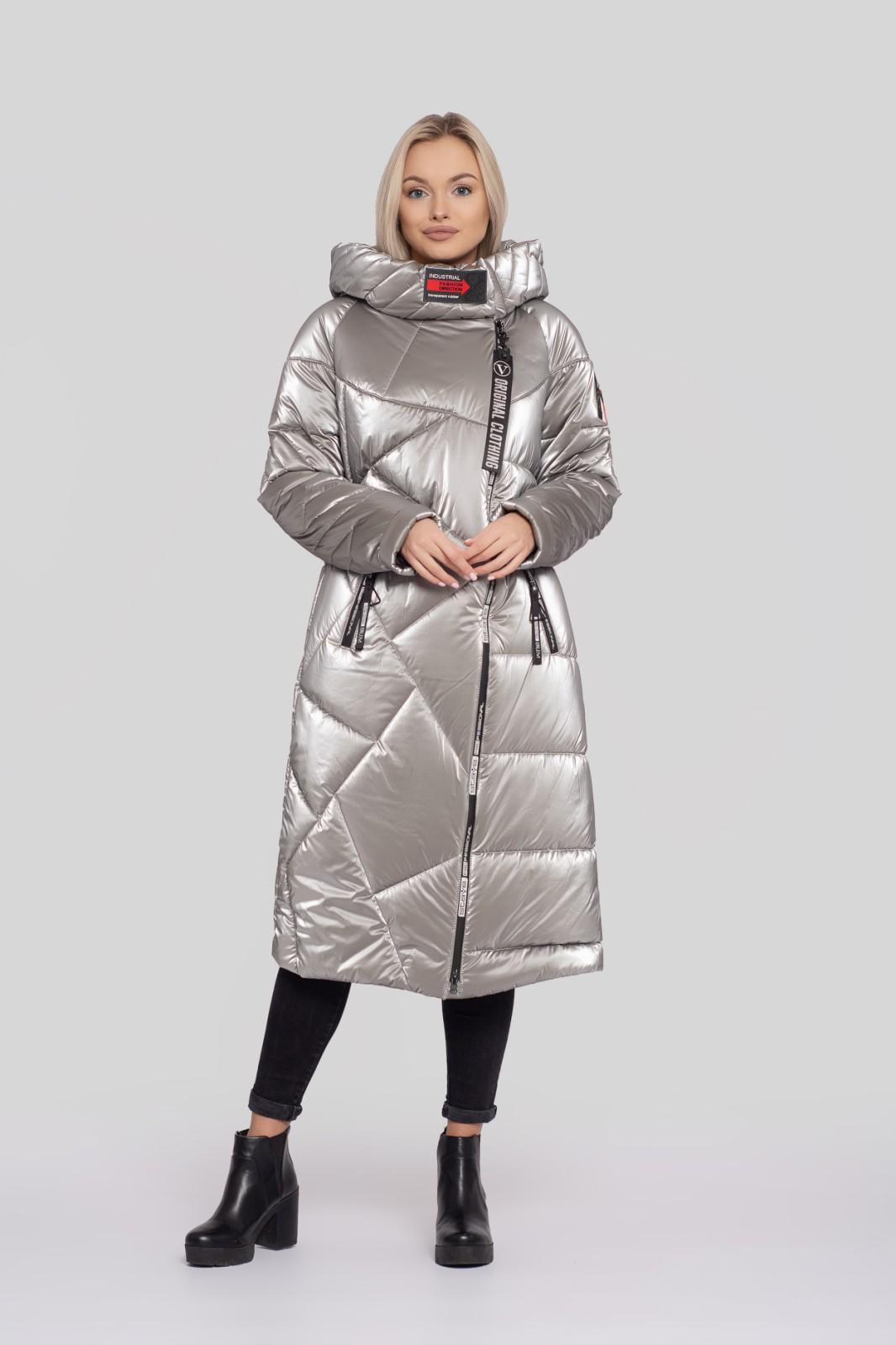 Очень теплый батальный женский пуховик на термо-подкладке