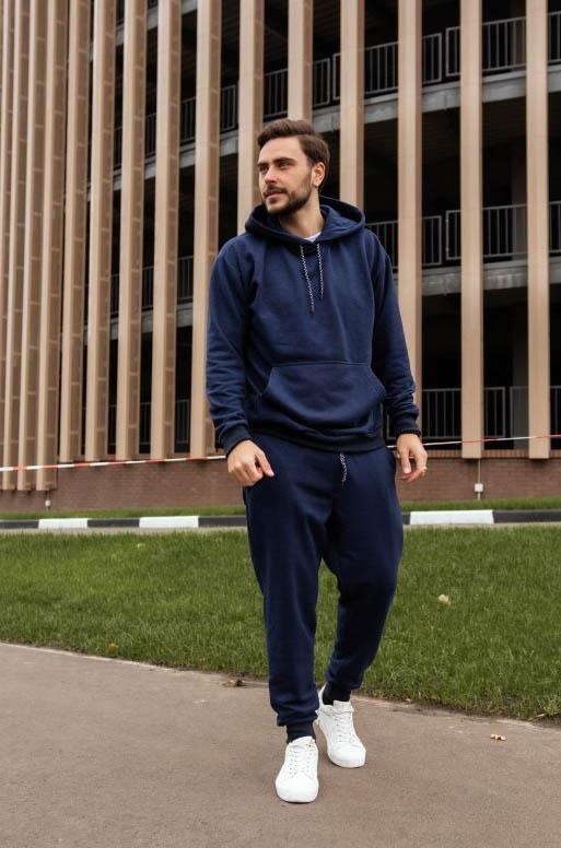 Теплый мужской спортивный костюм oversize больших  ...