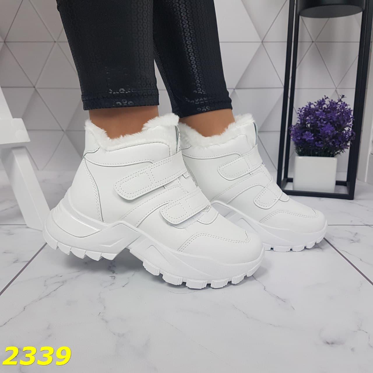 Женские зимние кроссовки на липучках