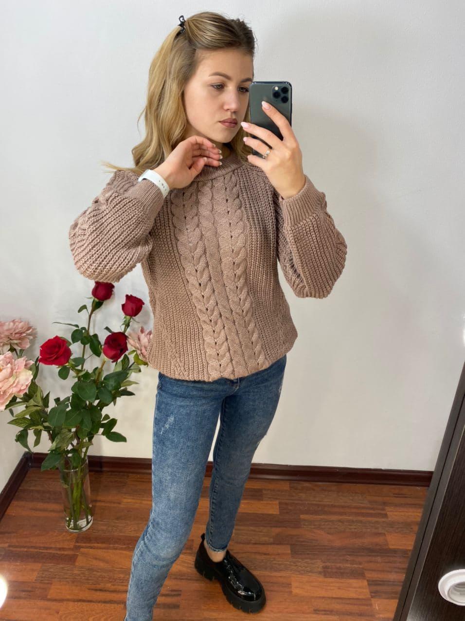 женский свитер, вязаный свитер