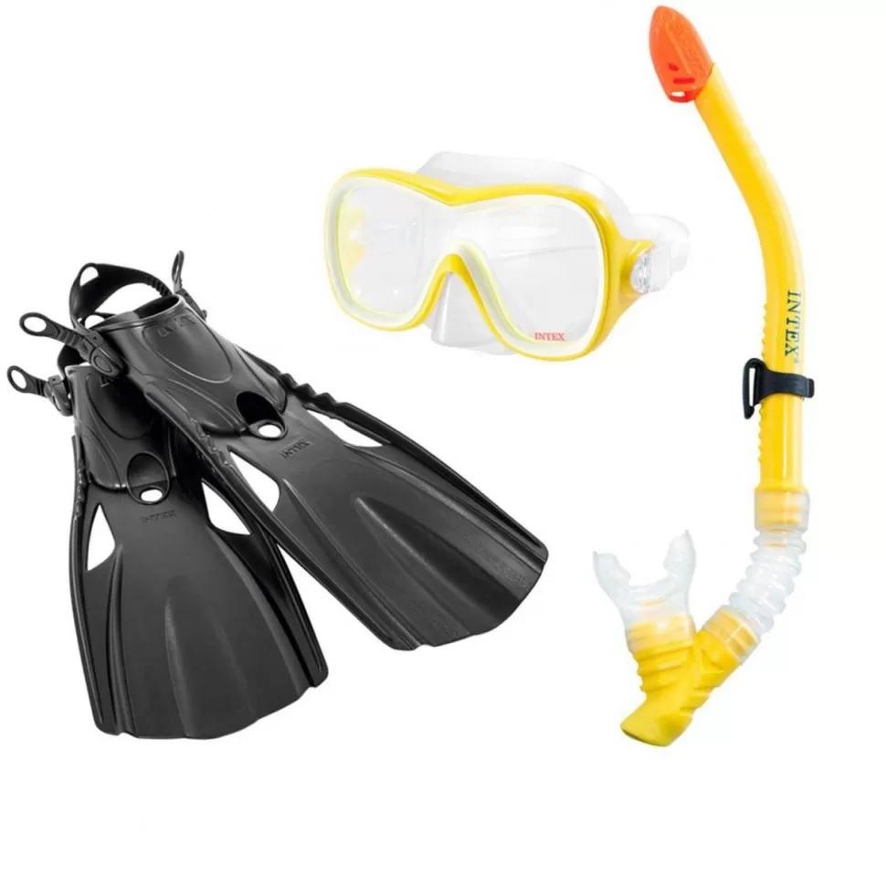 набор для плавания, набор с маской и ластами