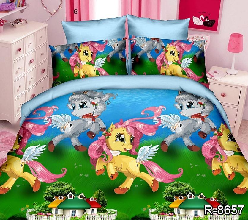 постельное детское с пони