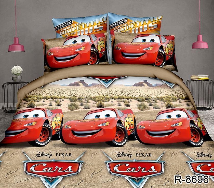 детское постельное для мальчиков с тачками