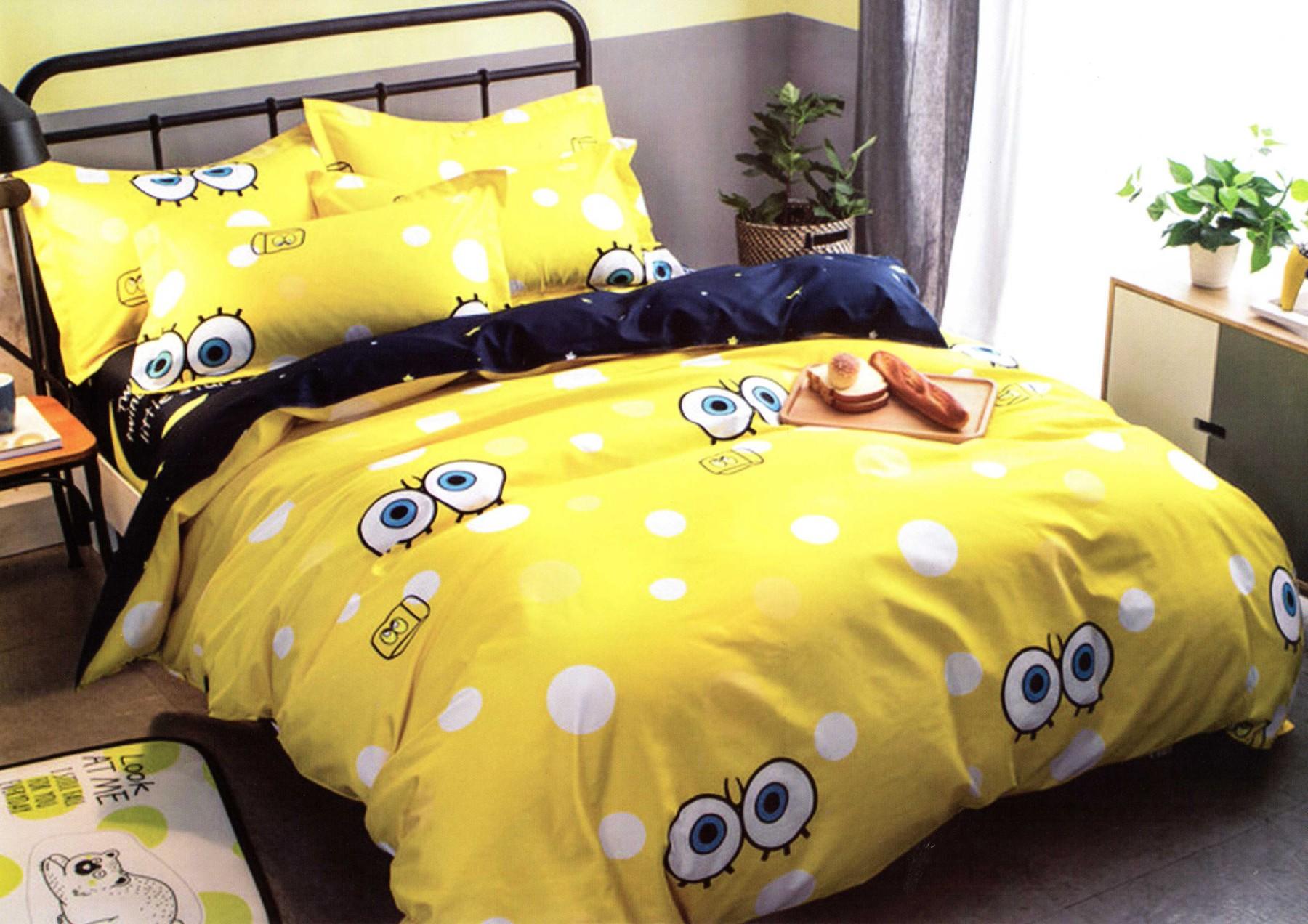 желтое постельное белье