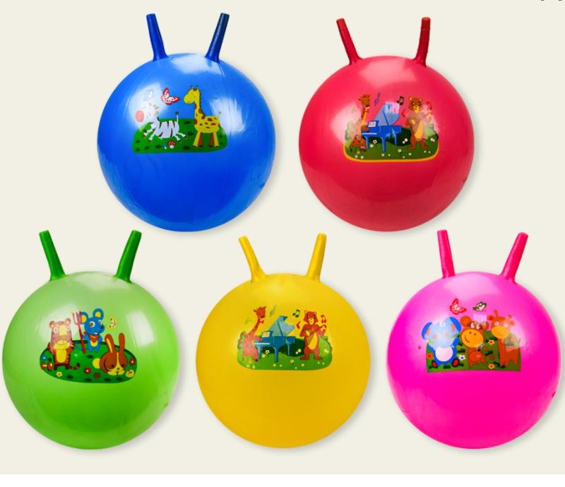 Разноцветные яркие, прочные Мячи для детей «Рожки» ...