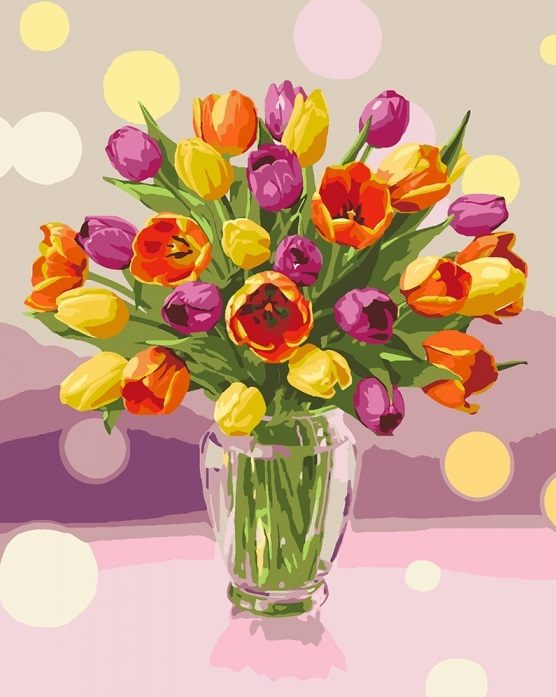 Набір для розпису по номерах «Сонячні тюльпани»