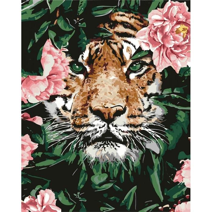 Набір для розпису по номерах «Відважний тигр»
