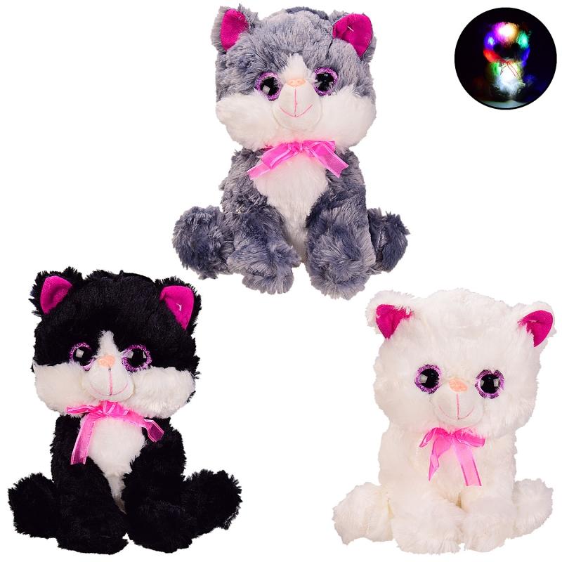Мягкая игрушка для детей «Котик» со светом