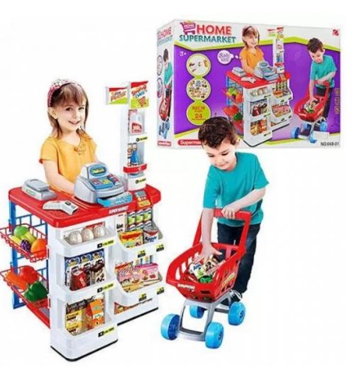 Интересный игровой набор «Супермаркет» для деток