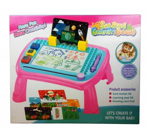 Интересный столик для рисования деткам