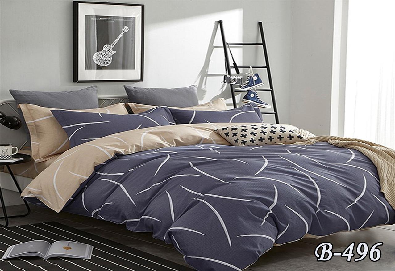 Красивое двойное постельное белье с большой просты ...
