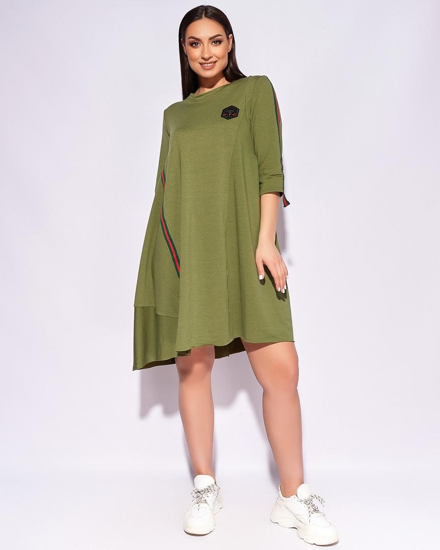 Модное миди женское платье красивое повседневное б ...