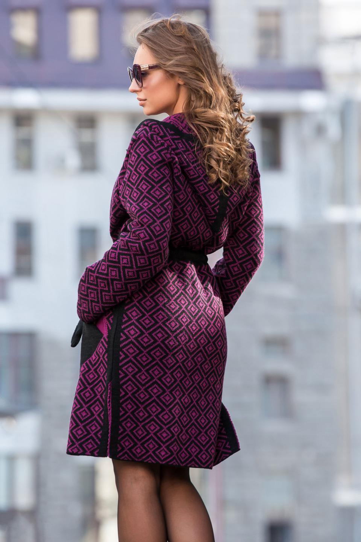 Теплый модный вязаный тренч «Мишель», длинный кард ...