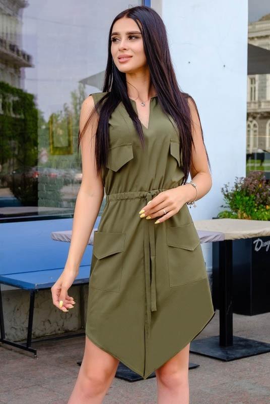 Стильное женское летнее платье сарафан больших раз ...