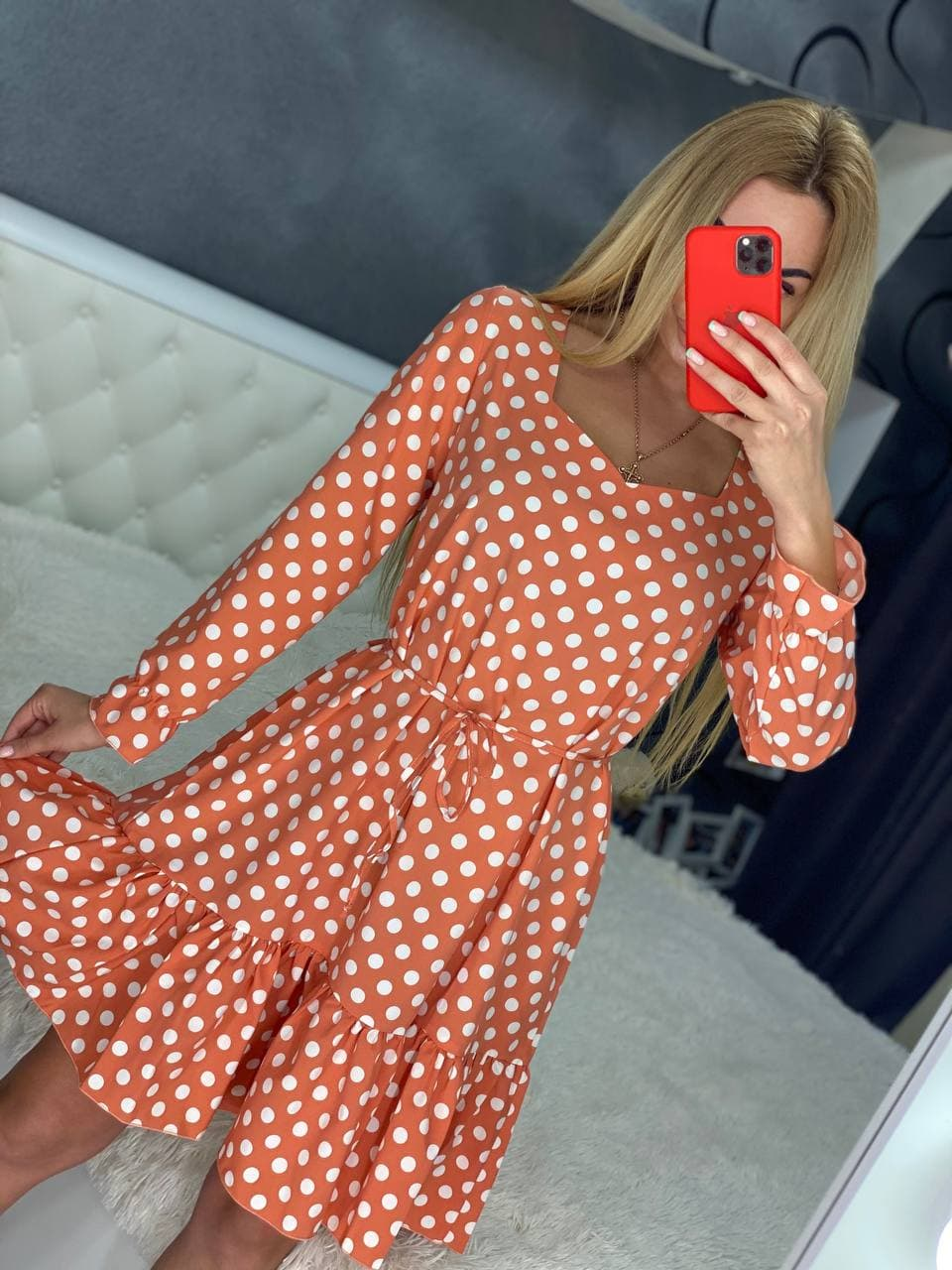 Летнее повседневное тонкое платье «Лилу» натуральн ...