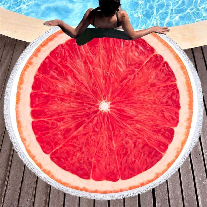 Стильное круглое пляжное полотенце коврик на море  ...