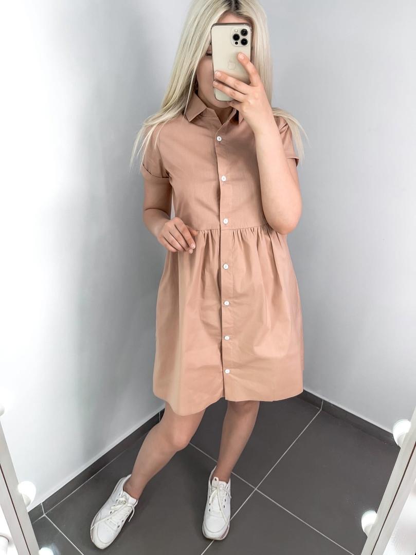 Классное женское платье-рубашка на каждый день пря ...
