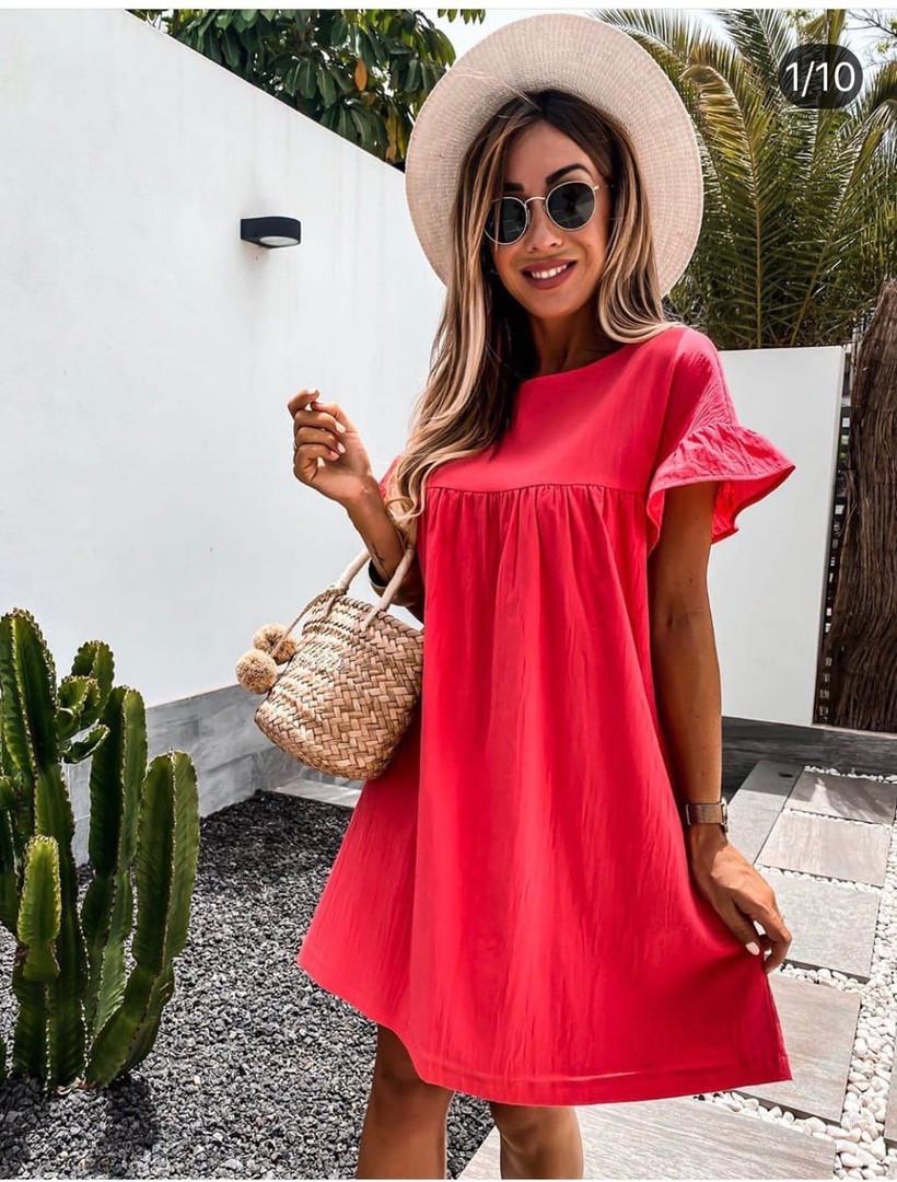 Удобное женское платье разлетайка на лето повседне ...