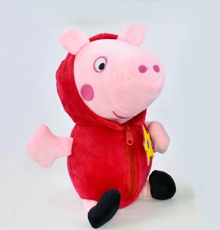 Красная плюшевая мягкая игрушка