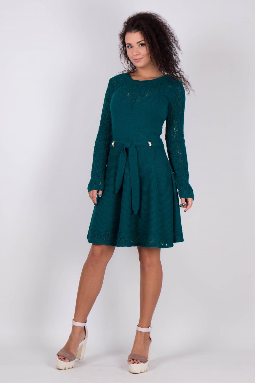 Нарядное осенние платье из трикотажа