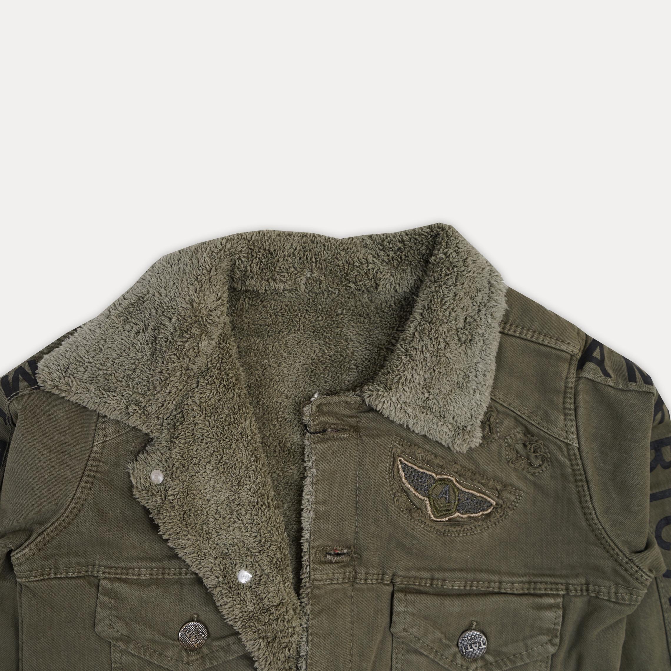 Классная теплая джинсовая курточка на меху для мал ...